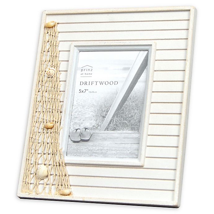 Alternate image 1 for Prinz Driftwood Shells 5-Inch x 7-Inch Picture Frame in Natural/White