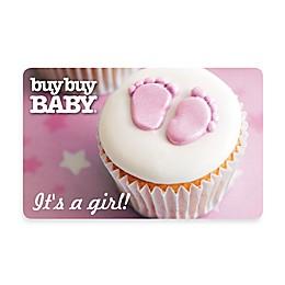 """It's a girl!"" Cupcake Gift Card"