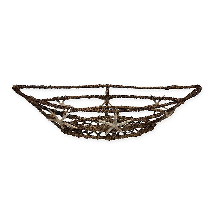 Alternate image 1 for Abaca 20-Inch Boat Basket with Starfish