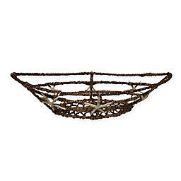 Abaca 20-Inch Boat Basket with Starfish