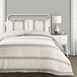 Lush Decor Farmhouse Stripe Reversible Comforter Set