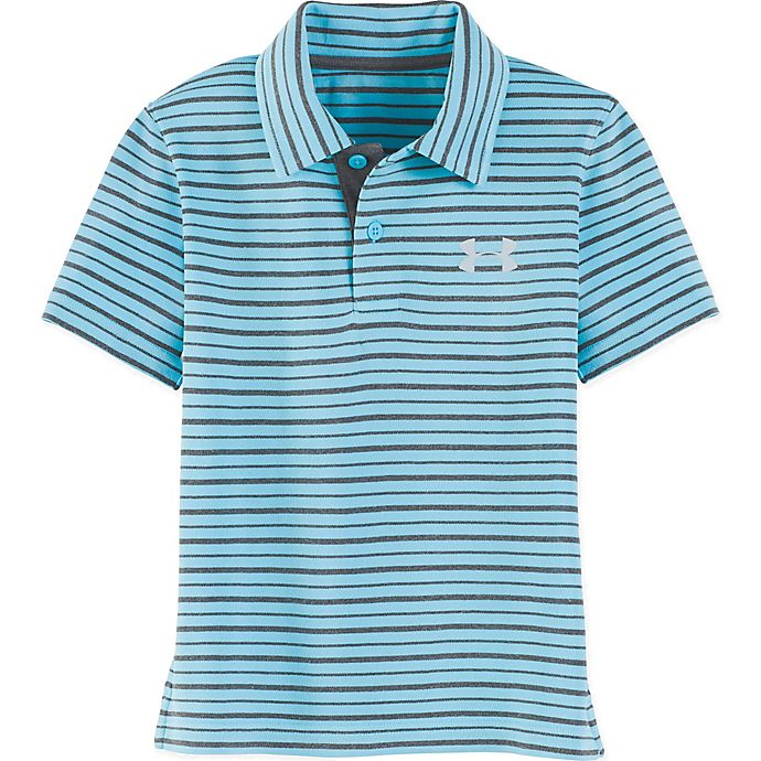 Alternate image 1 for Under Armour® Champion Striped Polo Shirt in Blue/Grey
