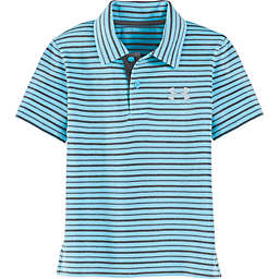 Under Armour® Champion Striped Polo Shirt in Blue/Grey