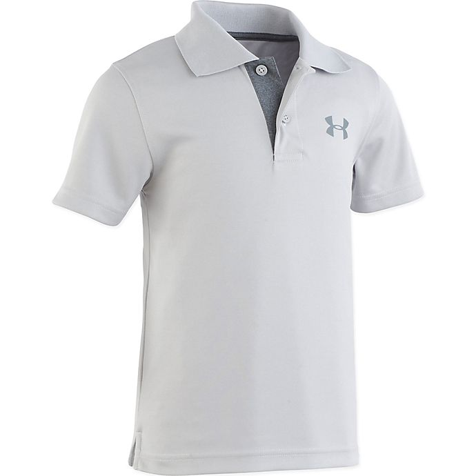 Alternate image 1 for Under Armour® Polo Shirt in Heather Grey