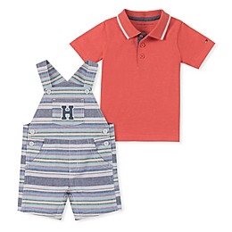 Tommy Hilfiger® 2-Piece Polo Shirt and Shortall Set in Coral