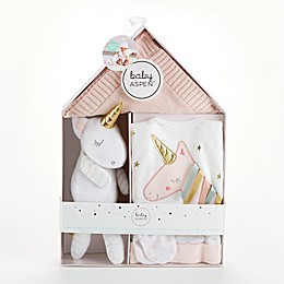 Baby Aspen Size 0-6M 5-Piece Simply Enchanted Unicorn Gift Set