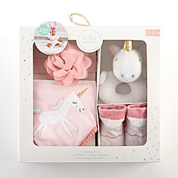 Baby Aspen Size 0-6M 4-Piece Simply Enchanted Unicorn Gift Set
