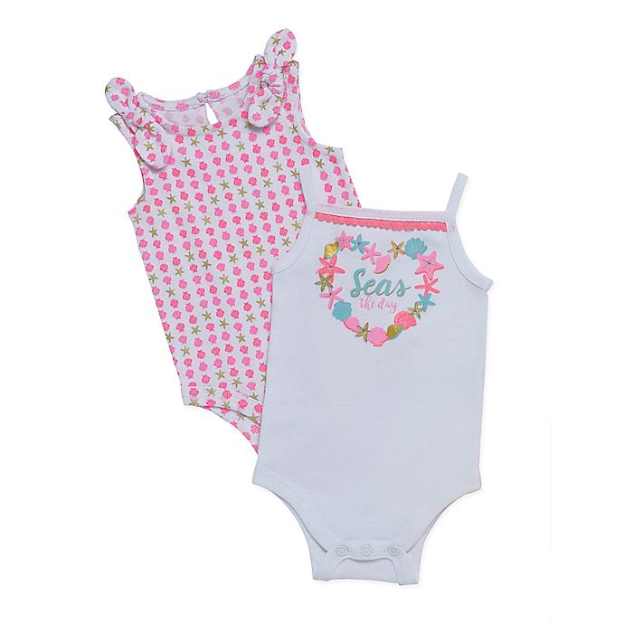 Alternate image 1 for Baby Starters® 2-Pack Seas the Day Sleeveless Bodysuits in Pink