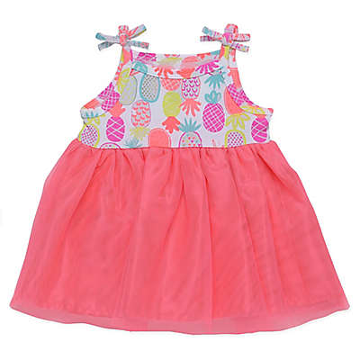 Baby Starters® Pineapple Dress with Attached Bodysuit in Pink