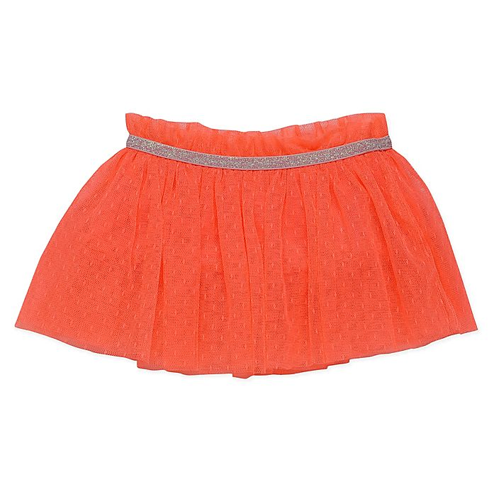 Alternate image 1 for Baby Starters® Tulle Tutu Skirt in Coral Pink