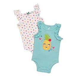 Baby Starters® 2-Pack Pineapple Bodysuits in Aqua