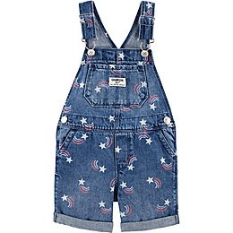 OshKosh B'gosh® Rainbow Shortall in Denim