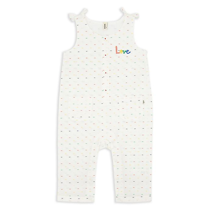 Alternate image 1 for ED Ellen DeGeneres Cream Love Romper