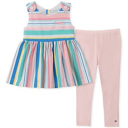 Tommy Hilfiger® 2-Piece Striped Tunic and Legging Set