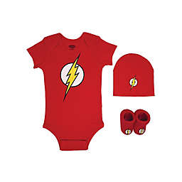 Warner Bros.® Flash Justice League Size 0-6M 3-Piece Bodysuit Set in Red