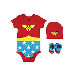 Warner Bros.® Wonder Woman Justice League Size 0-6M 3-Piece Bodysuit Set