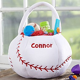 Baseball Embroidered Easter Treat Bag