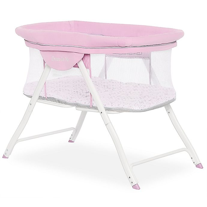 Alternate image 1 for Dream On Me Poppy Portable Bassinet in Pink/Purple