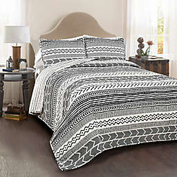 Lush Decor Hygge Geo 3-Piece Reversible Quilt Set