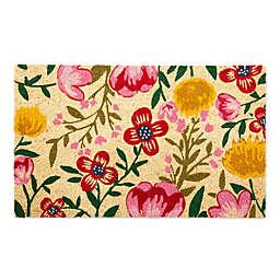 "Design Imports Bright Blossom 18"" X 30"" Door Mat in Pink"