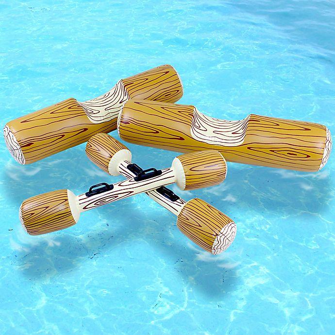 Alternate image 1 for Swimline Log Flume Joust Pool Float Set