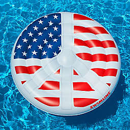 Swimline Americana Peace Sign Pool Float in Red