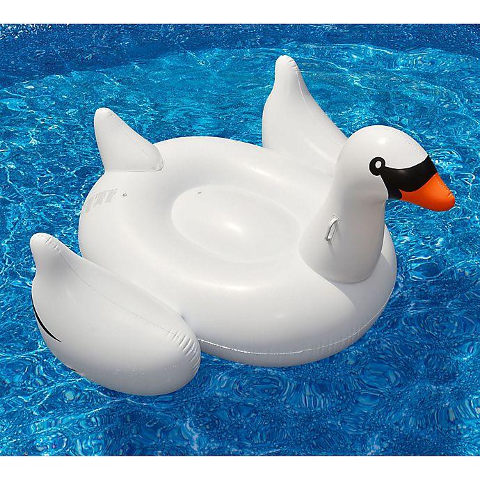 Alternate image 1 for Swimline Giant Swan Pool Float in White
