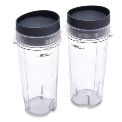 Ninja® 16 oz. Single Serve Cups with Lids for Ninja® BL660 Professional Blender (Set of 2)