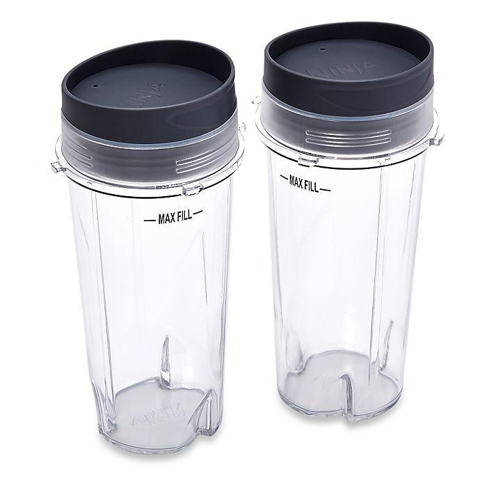 Alternate image 1 for Ninja® 16 oz. Single Serve Cups with Lids for Ninja® BL660 Professional Blender (Set of 2)