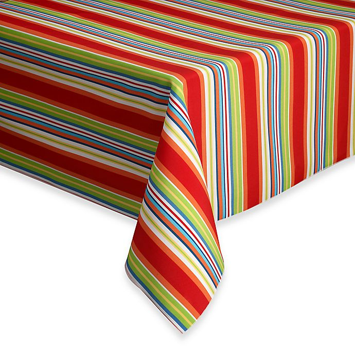 Alternate image 1 for Destination Summer Mystic Stripe Indoor/Outdoor Tablecloth