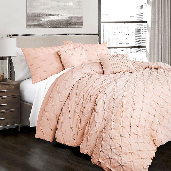 Alternate image 1 for Lush Decor Ravello Pintuck Full/Queen Comforter Set in Blush