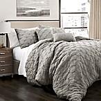 Lush Decor Ravello Pintuck King Comforter Set in Grey