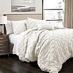 Lush Decor Ravello Pintuck King Comforter Set in Ivory