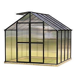 Riverstone Monticello 8-Foot x 8-Foot Residential Greenhouse in Black
