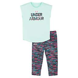Under Armour® 2-Piece Sleeveless Shirt and Legging Set in Aqua