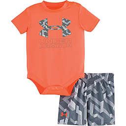 Under Armour® 2-Piece Bodysuit and Short Set in Orange