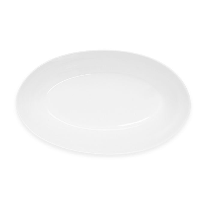 Alternate image 1 for Nevaeh White® by Fitz and Floyd® Deep Oval Serving Bowl