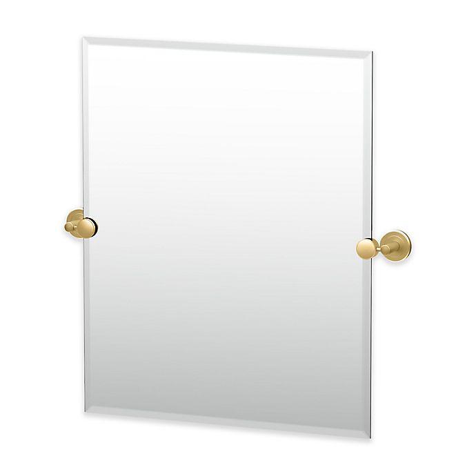 Alternate image 1 for Gatco® Latitude II 24-Inch x 24-Inch Rectangular Mirror in Brushed Brass