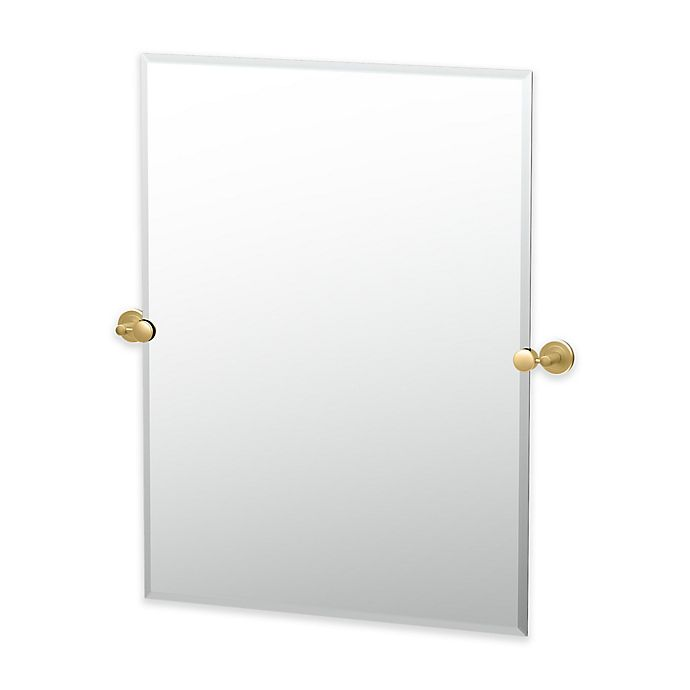 Alternate image 1 for Gatco® Latitude II 31.5-Inch x 27.5-Inch Rectangular Mirror in Brushed Brass