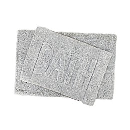 VCNY Home 2-Piece Heathered Bath Mat Set in Grey