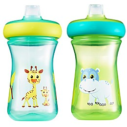 The First Years™ 2-Pack 9 oz. Insulated Soft Spout Safari Sippy Cups