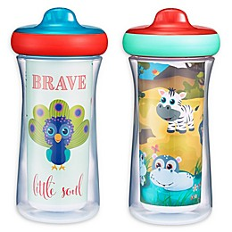 The First Years™ Cute Safari 2-Pack 9 oz. Insulated Sippy Cups