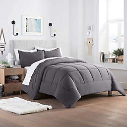 UGG® Devon 2-Piece Reversible Twin XL Comforter Set in Charcoal