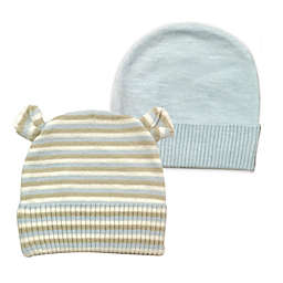 NYGB™ 2-Pack Striped and Solid Knit Hats in Pastel Blue