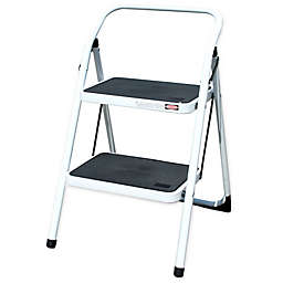 Amerihome 2-Step Utility Stool in White