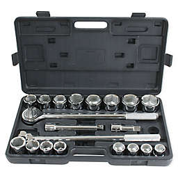 Pro-Series 21-Piece 3/4-Inch Drive SAE Socket Set in Black