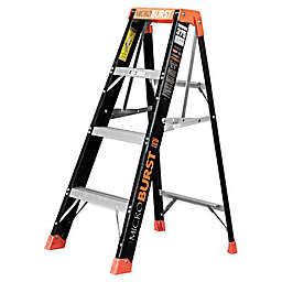 Little Giant MicroBurst Fiberglass Ladder in Black