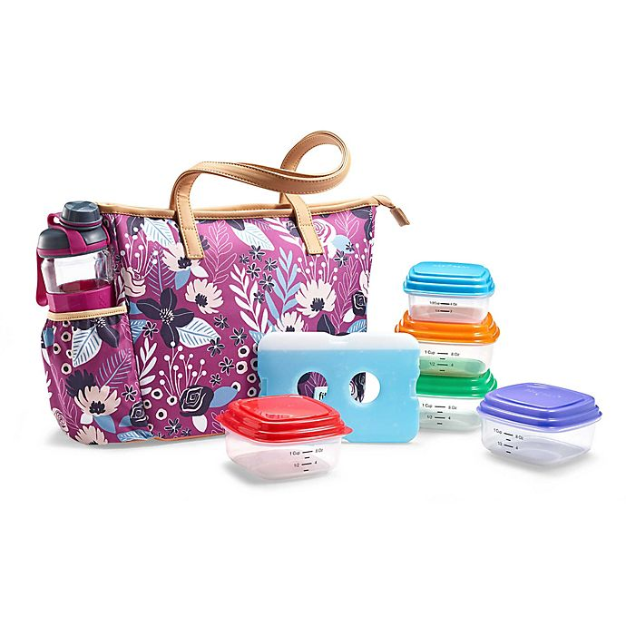 b1c861542b85 Fit & Fresh® Scottsboro 8-Piece Lunch Bag Set in Purple   Bed Bath ...