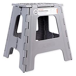 Rhino II Tall Folding Step Stool in Grey