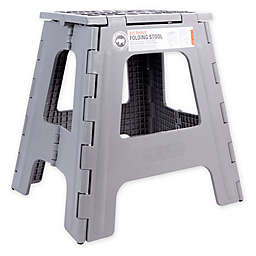 Rhino II Tall Folding Step Stool in Grey